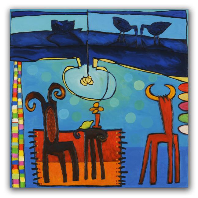 Requerdos, paneel, 100x100 cm, 2010. Diana van Hal.