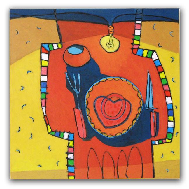 Soulfood, paneel, 60x60 cm, 2010. Diana van Hal.