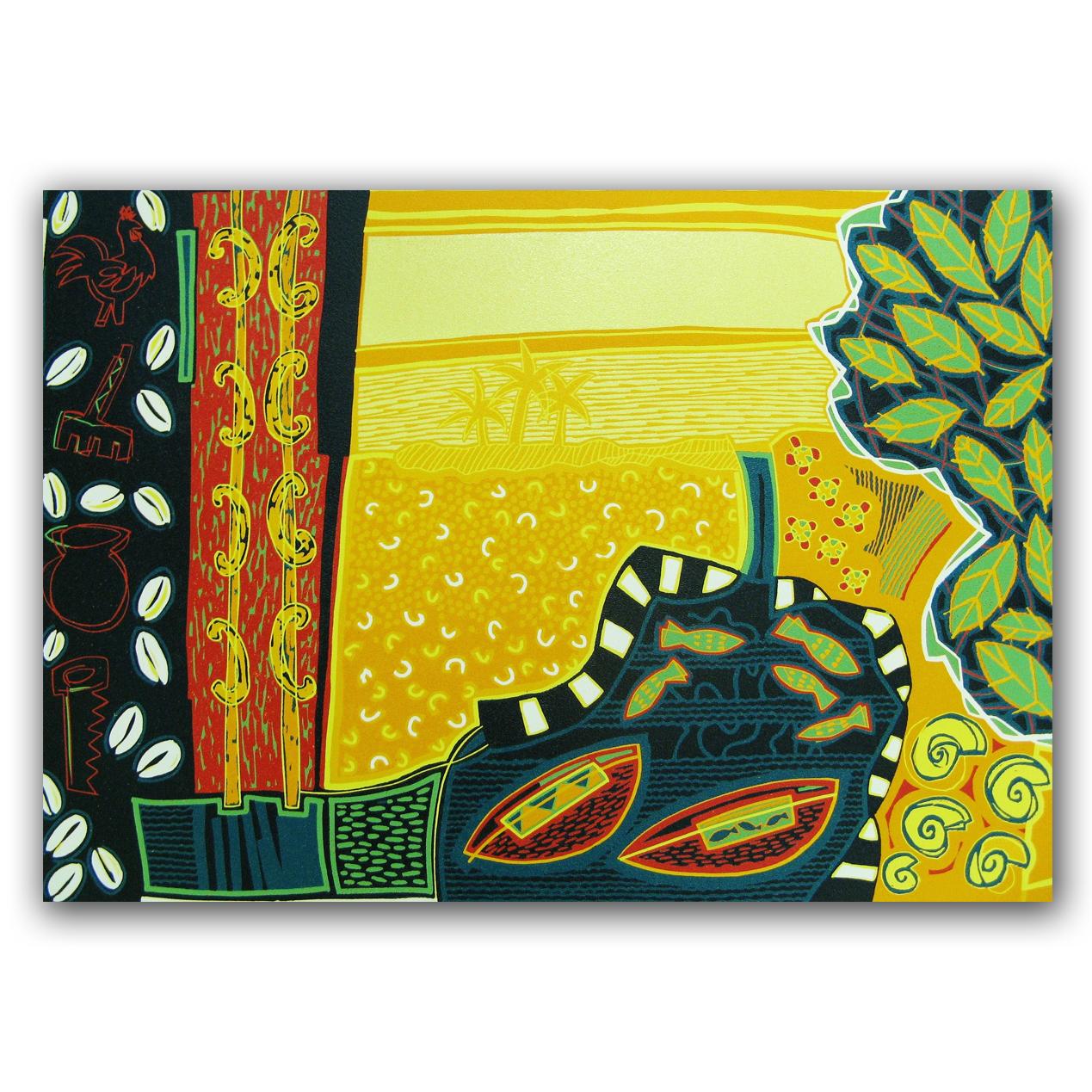 Cuba Linda, lino 78x54 cm, 2005. Diana van Hal.