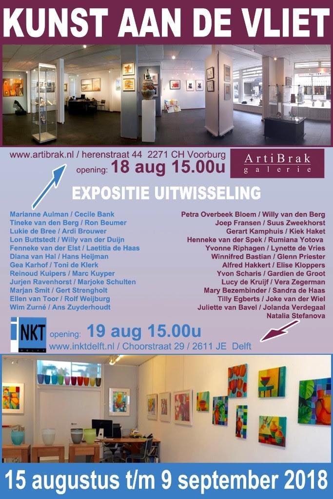 Kunst Aan de Vliet | Galerie ArtiBrak i.s.m INKT Delft