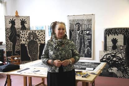 Lezing en mijn werk in Galerie Kunstuitleen Bollenstreek